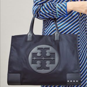Tory Burch Ella Tote in Navy